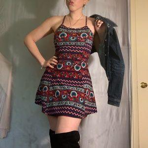 Chic Patterned Shift Dress
